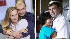 Nejen žena je jiná: Petr Rychlý v Ordinaci teď (s Míšou Badinkovou) a před víc jak 11 lety (s Danielou Šinkorovou)