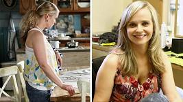Kristýna Kociánová před a po ostříhání