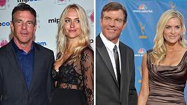 Dennis Quaid s novou přítelkyní a exmanželkou...