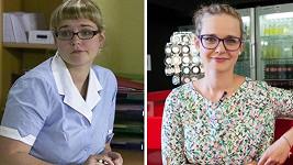 Kristýna Kociánová jako Mirka (vlevo) před pár lety a dnes