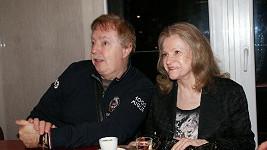 Eva se svým manželem Janem Kolomazníkem hýřila skvělou náladou.