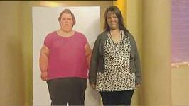 Nejtlustější teenagerka Británie Georgia Davisová v době, kdy zhubla po odtučňovacím táboře 96 kilogramů.