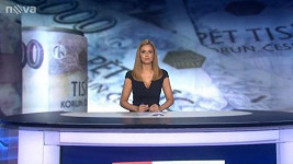 Tereza Jandová při svých premiérových Ranních televizních novinách
