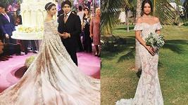 V šatech značky Ralph a Russo se vdala i dcera ruského miliardáře nebo modelka Shanina Shaik.