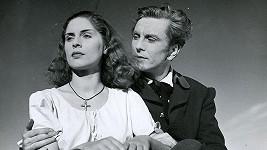 Robert Vrchota a Vlasta Fialová ve filmu Divá Bára (1949)