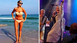 Na koncertě skupiny Hamleti zpívala Monika v županu. V plavkách už ji prý nikdy nikdo nespatří.