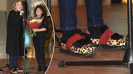 Havlová zvolila výstřední obuv.
