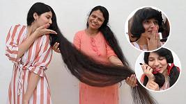 Nilanshi Patel byla teenagerkou s nejdelšími vlasy na světě.
