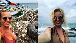 Martina Pártlová si fotila selfíčko na odpadišti.