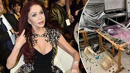 Takto výbuch poničil její ateliér.