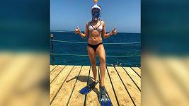 Kamila Nývltová vyfotila svůj potápěčský outfit.