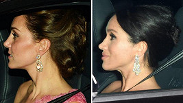 Vévodkyně Kate a Meghan cestou z oslavy 70. narozenin prince Charlese