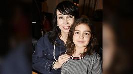 Nela Boudová s dcerkou