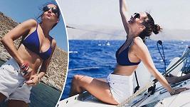Herečka relaxuje v Řecku.