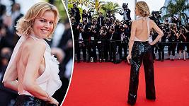 Supermodelka a na premiéře filmu Everything Went Fine v Cannes.