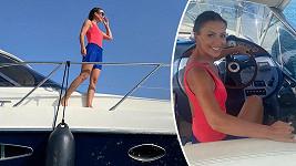 Gabriela Partyšová má řidičák na loď.