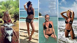 Které krásce to na dovolené na Bali sekne víc?