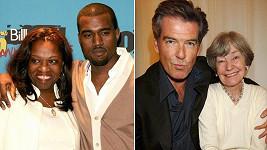 Kanye West a Pierce Brosnan s maminkami
