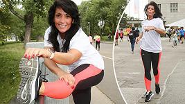 Eva se sportem udržuje v kondici.
