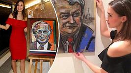 Gelemová se rozhodla malovat významné politiky.