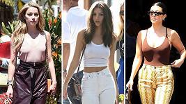 Amber Heard, Emily Ratajkowski a Kim Kardashian chodí často dost nalehko.