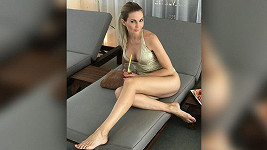 Sandra Parmová si užívá relax
