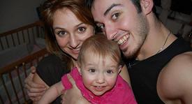 Charlotta a Přemysl s dcerou Sofií.