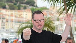 Režisér Lars von Trier na včerejší tiskové konferenci v Cannes.