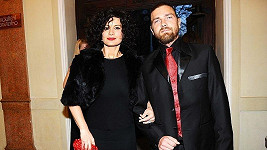 Jitka Čvančarová s přítelem Petrem Čadkem na udílení cen TýTý