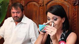 Gábina Partyšová se svým manželem Josefem Koktou.