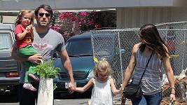 Ben Affleck s rodinou.