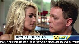 Doug Hutchison a Courtney Stodden v pořadu Good Moorning America na televizi ABC.