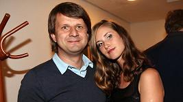 Jana Bernášková s přítelem a scenáristou v jedné osobě Rudolfem Merknerem.