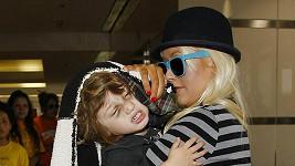 Christina Aguilera se synem Maxem