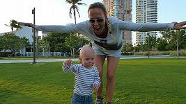 Zuzana Belohorcová s dcerou Salmou v Miami.