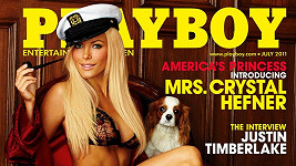 Červencový Playboy představuje paní Hefnerovou. Předčasně.