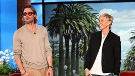 Brad Pitt v talkshow Ellen DeGeneres.