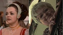 Dana Hlaváčová v roce 1973 coby Dora v Popelce a dnes.