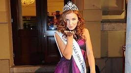 Šárka Cojocarová na finále České Miss