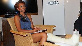 Lejla Abbasová na benefičním večeru Afrika na krku