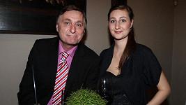 Václav Tittelbach přišel v doprovodu své dcery.