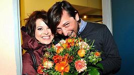 Betka Stanková s přítelem Janem Seidelem na 100. repríze muzikálu Robin Hood