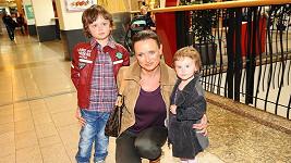Jana Nováková se synem Danielem a dcerou Jasmine Anne