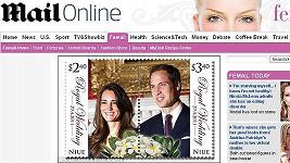 Nešťastně navržená poštovní známka Kate Middletonové a prince Williama.