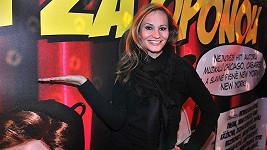 Monika Absolonová na tiskové konferenci muzikálu Vražda za oponou