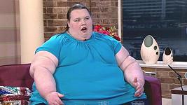 Georgia Davis v 15 letech, kdy vážila asi 250 kilo.