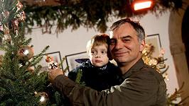 Ivan Trojan se svým nejmladším synem Toníčkem.