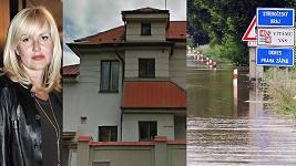 Vendula Svobodová je obětí povodní. Její vilu zatopila Berounka.