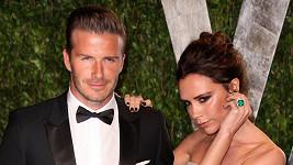 David Beckham s manželkou.