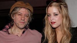 Bob Geldof s dcerou Peaches na archivním snímku.